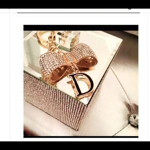 Beautiful Dior keychain sparkles!